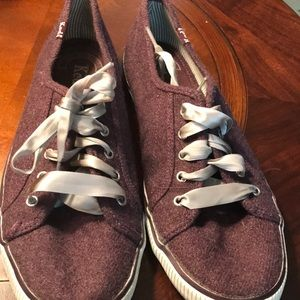 Keds Purple Wool Blend Sneakers with Ribbon Laces